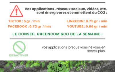 Un geste éco-numérique : désactiver vos applications.