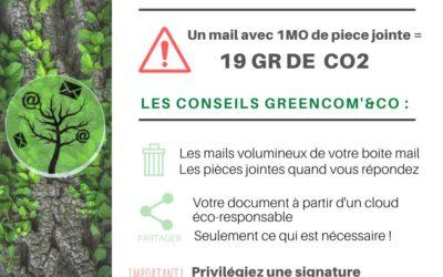 Un geste éco-numérique : prendre soin de sa boîte mail par GreenCom'&Co.
