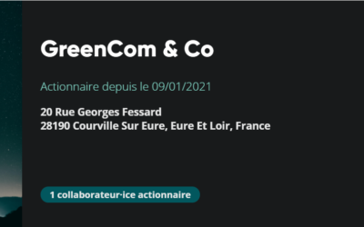 GreenCom'&Co actionnaires de Time for the Planet