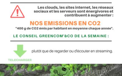Un geste éco-numérique : le téléchargement.