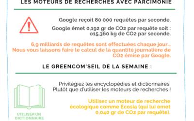 Un geste éco-numérique : les moteurs de recherches avec parcimonie