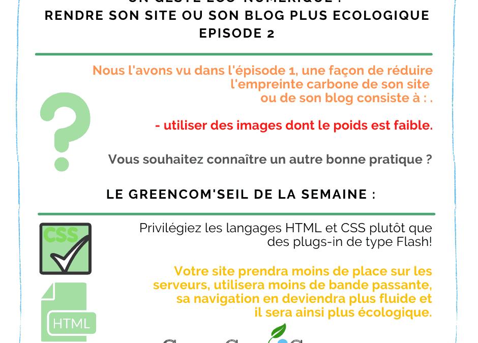 Rendre son site ou son blog plus écologique – Episode 2