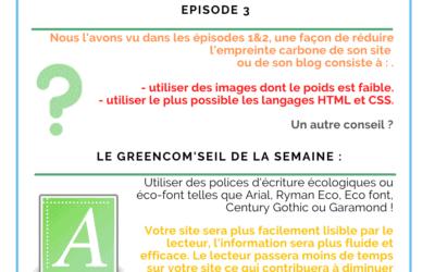 Rendre son site ou son blog plus écologique – Episode 3